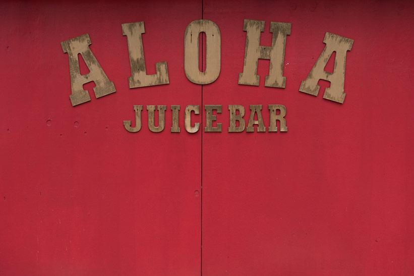 Schriftzug Aloha macht Urlaubsgefühle