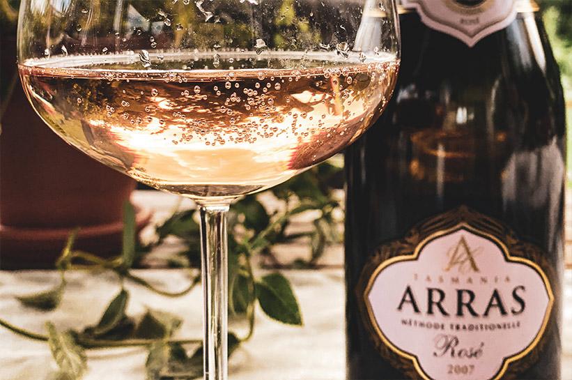 Wein aus Tasmanien - Flasche Sparkling Arras