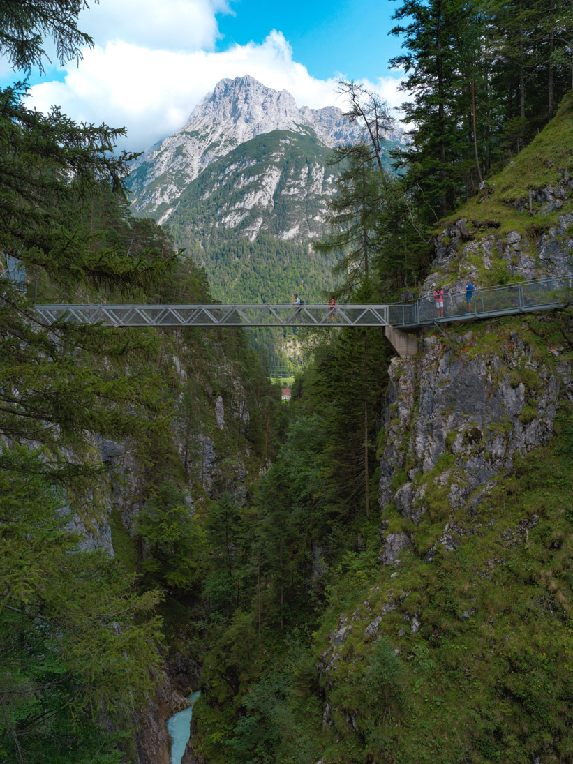 Panorama Brücke Klamm