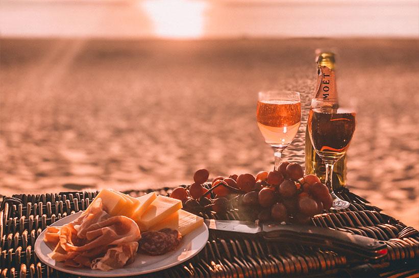 Picknick am Strand von Sylt