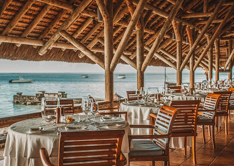 Hotel Restaurant am Meer auf Mauritius