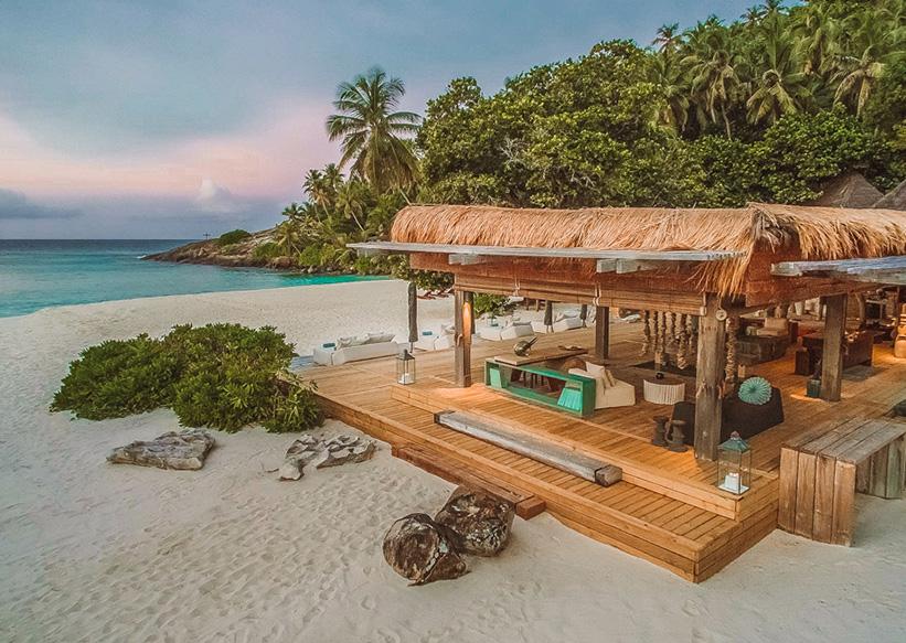 Seychellen Strand auf North Island
