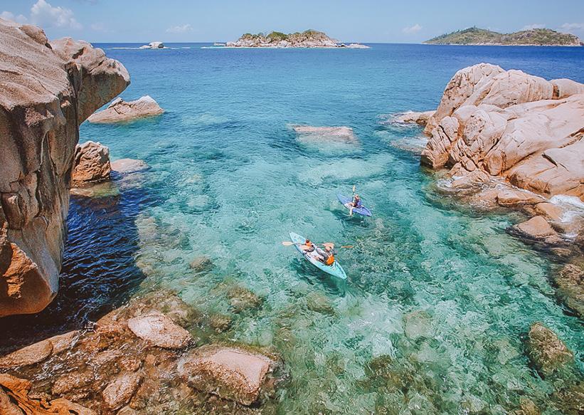 Wassersport Seychellen Kanus
