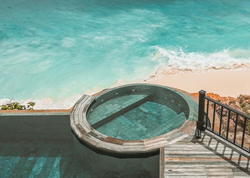 Seychellen Strand und Pool