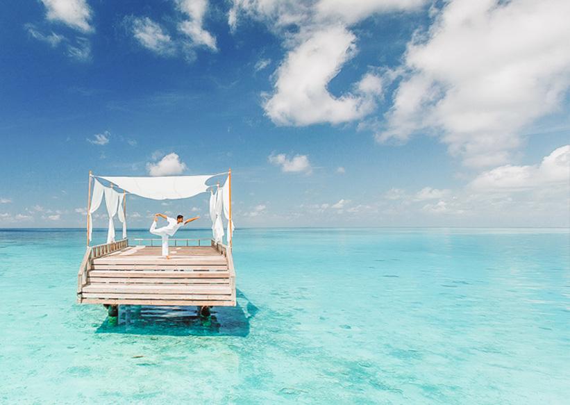 Yoga Plattform Malediven